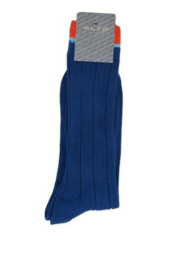 Alto Socks Alto Socks  Çizgi Dokulu Erkek Çorap 101643916 Mavi